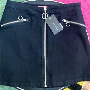 Black Retro Miniskirt